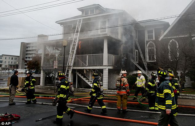 Deadly blaze: John Sterner, 56, ran into the rectory of an Episcopal church with his clothes on fire, causing a blaze that killed himself and the church's pastor