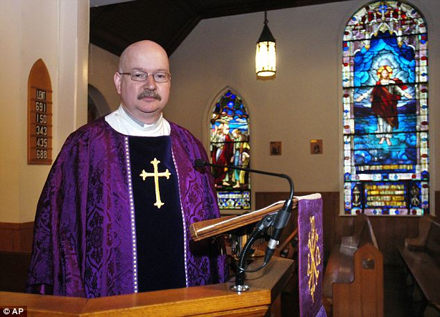 Victim: The pastor, Rev. David Dingwall, died at a hospital after the fire after running into the burning building to save his computer