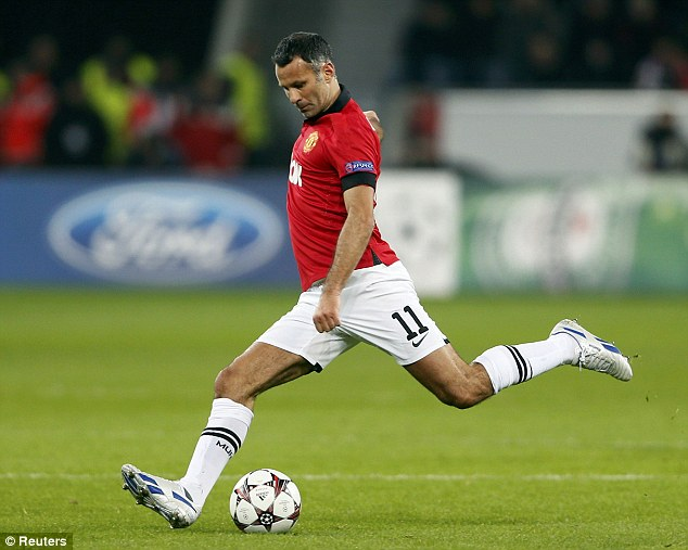 Still going strong: Ryan Giggs had another wonderful match despite approaching his 40th birthday