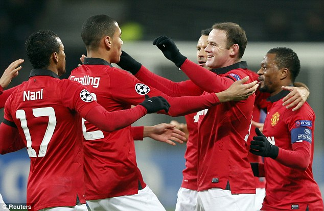 Player of the season so far: Wayne Rooney was outstanding again for Manchester United