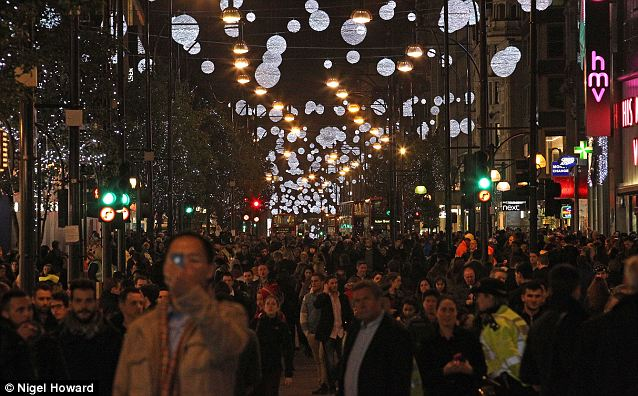 Shopping spree: Retailers are hoping to give the Christmas shopping season a kick start by offering discounts of up to 70 per cent on selected good this weekend