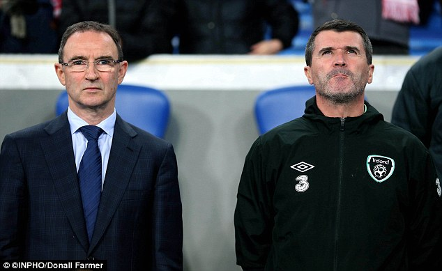 Shoulder to shoulder: Roy Keane (right) answered Martin O'Neill's call to take up the role as his assistant