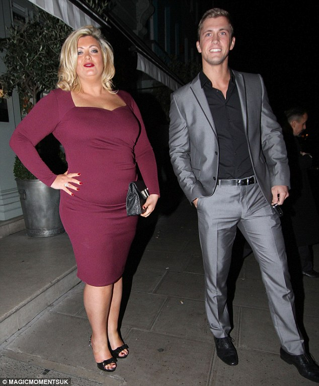 A good looking pair: Gemma Collins and Dan Osborne leave a London restaurant after dining out on Wednesday evening