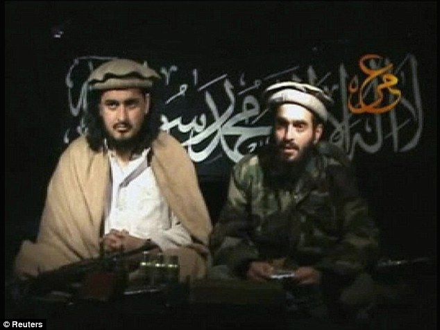 Drone casualty: Hakimullah Mehsud (left), former leader of the Pakistani Taliban, was killed in a U.S. drone strike on November 1