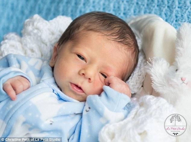Bundle of joy: William Arthur Petit III was born on November 23 to Christine Petit and her husband Dr William Petit