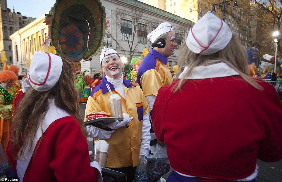 Clowning around: About 900 clowns marched in the parade today