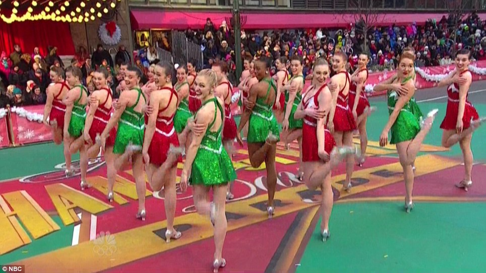 Green and red: Each year, the Rockettes perform in the Radio City Christmas Spectacular