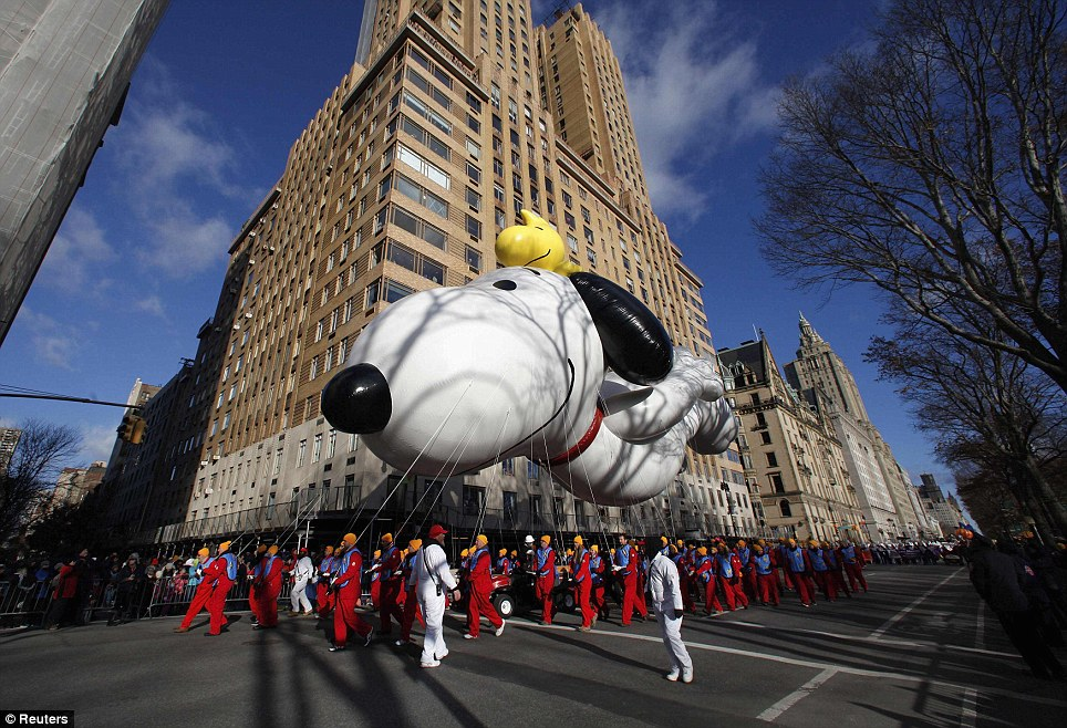 Thanksgiving favorite: This year's new Snoopy balloon is the seventh version of the famous Peanuts character. Snoopy has appeared in more parades than any other balloon