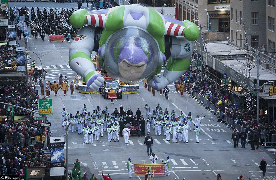 The injured: A cart driver on the Buzz Lightyear float ran over one of the handler's feet, sending the 39-year-old to the hospital for a minor injury