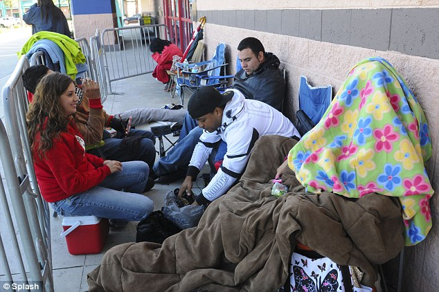 Sales: People Camping Out For Black Friday Sales At Best Buy.  With weather down in the 40's overnight, it didn't discourage people waiting since Tuesday for Black Friday Sales on Flatscreen televisions and more