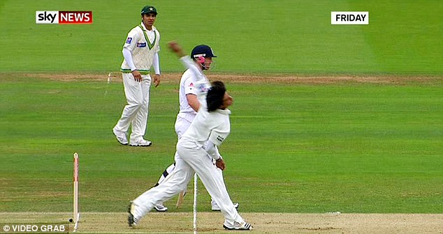 No-ball: Mohammad Aamer overstepped massively during the 2010 Lord's Test and was subsequently banned for five years for spot-fixing following a newspaper sting