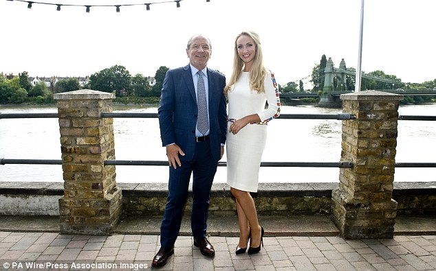 No sugar coating it: Lord Sugar, here unveiling Leah Totton as the winner of this year's Apprentice, is on AVB's case and says he would replace him with Sir Alex Ferguson