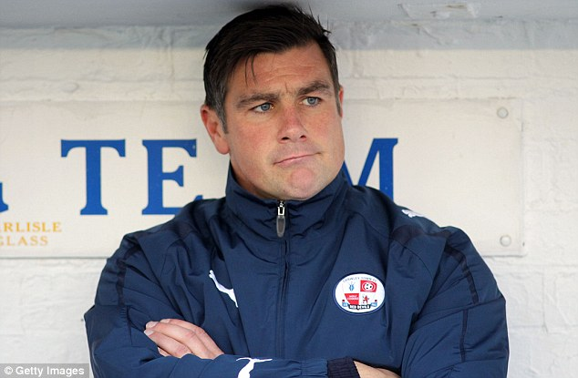Dismissed: It came as a shock that manager Richie Barker was sacked by Crawley after less than four months