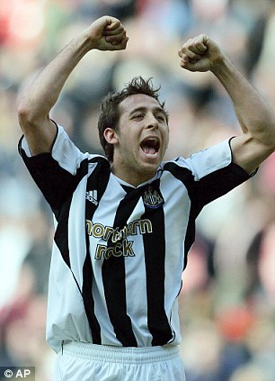 Michael Chopra celebrates a goal while playing for Newcastle in 2006