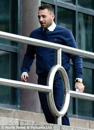 Michael Chopra arriving at Newcastle Crown Court, to give evidence as a witness in a £750,000 cocaine trial involving an alleged drugs factory