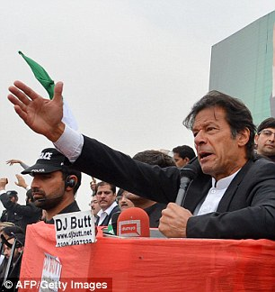 Firebrand: Pakistan Tehreek-e-Insaaf is led by cricket star Imran Khan and controls the government in northwest Khyber Pakhtunkhwa province