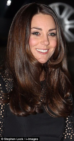 The Duchess of Cambridge showed off visibly darker hair when she arrived at the SportsAid SportsBall in London this evening compared to other appearances earlier this month