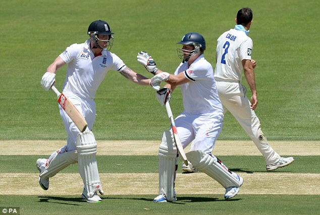Staking a claim: Ballance made his case for a place in the Adelaide Test after scoring 55 in Adelaide