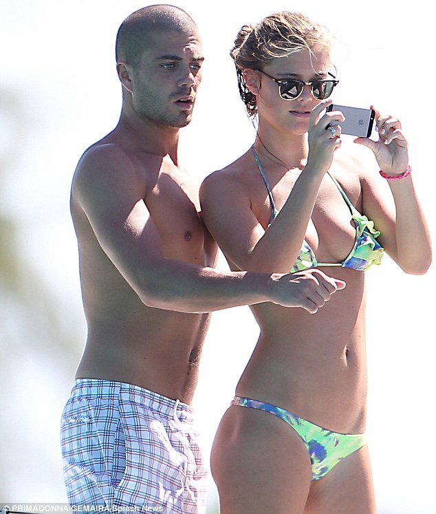 It's alright for some! Max George and girlfriend Nina Agdel were making the most of their Barbados break on Friday