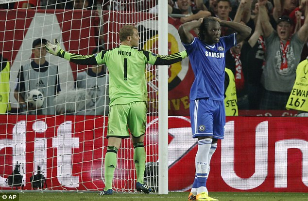 Put on the spot: Chelsea's Romelu Lukaku missed a penalty against Bayern Munich which saw his team lose the UEFA Super Cup final and afterwards he asked for a move away from the club