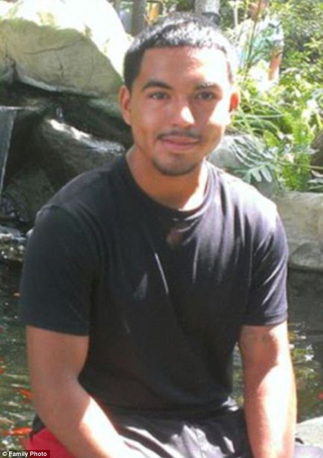 Intervened: Noe Nino de Rivera, 17, had stepped in to break up a fight between two girls at Cedar Creek High School on November 20