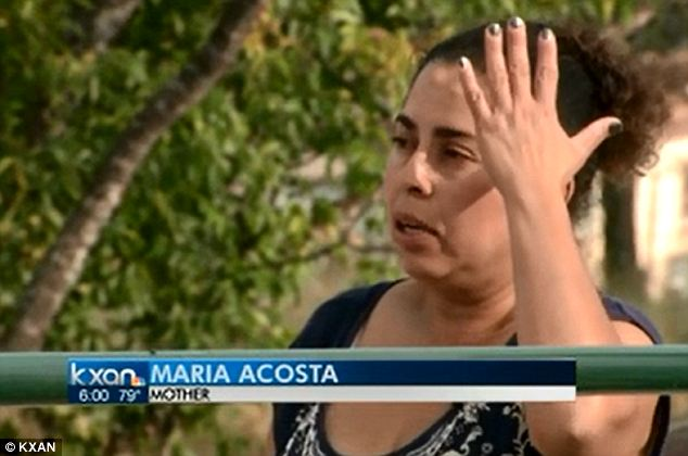 Devastated: de Rivera's mother, Maria Acosta, says her son still cannot communicate with them after the incident last week