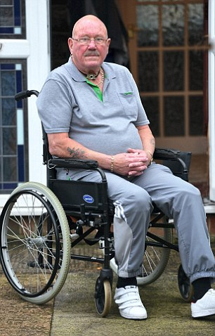 Mr Williams, above, forgot his house keys when he went for a drink at the pub and was forced to smash his garage window to get inside