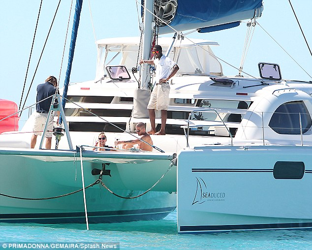 Plain sailing: The couple seem to have a calm and happy relationship