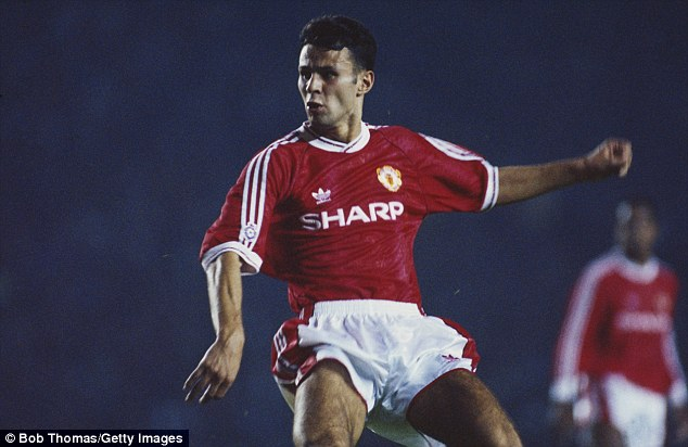 New kid on the block: Giggs burst into the Manchester United first team in 1991, just a few years after his Ghostbusters days