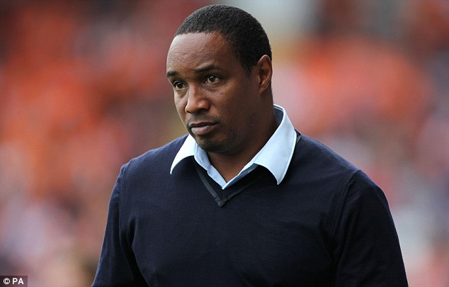 Look who's back: Blackpool manager Paul Ince returns to the touchline after a five-game ban