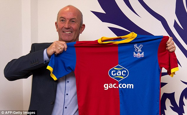 Selhurst smile: Tony Pulis is the new manager at Crystal Palace