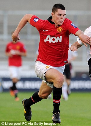 Ram raid: Manchester United's  Michael Keane has joined Derby on loan