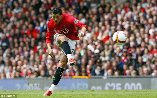 Star performer: Cristiano Ronaldo won it all at Manchester United before moving to Real Madrid four years ago