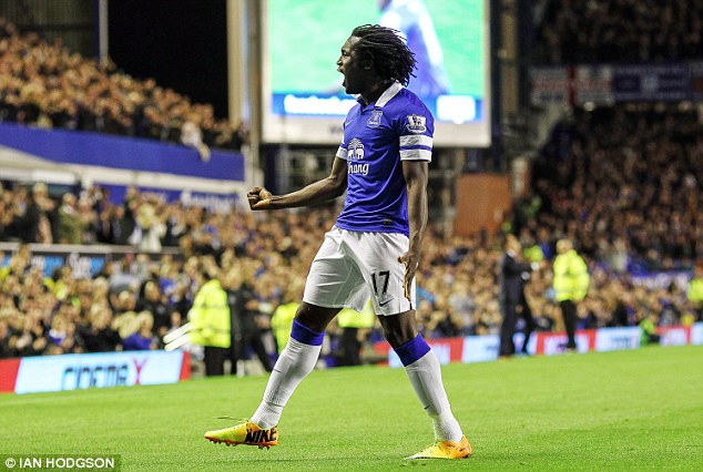 Sweet success story: Lukaku has been in good form since joining Everton on loan from Chelsea this season