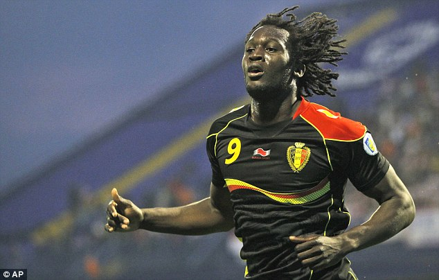 International goal-scorer: Lukaku celebrates scoring the opening goal against Croatia for Belgium during their group A World Cup qualifying match