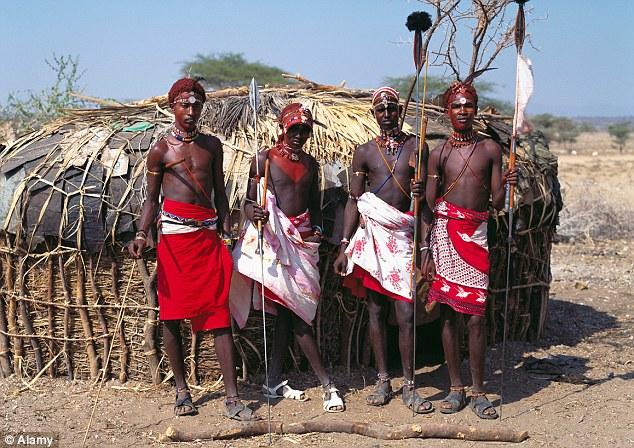 The Samburu people of Kenya sent the royals the unusual gift to celebrate the birth of Prince George