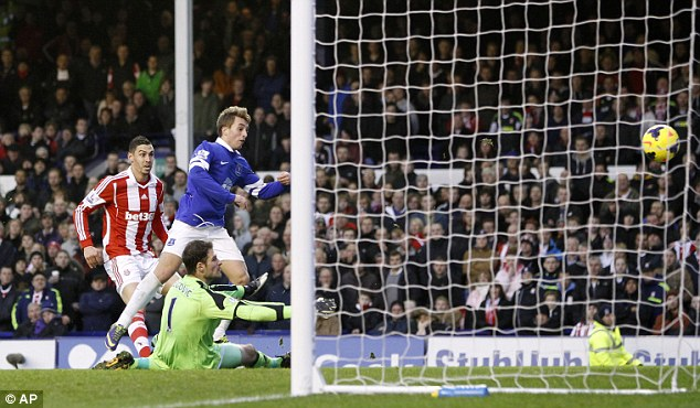 Up and running: The impressive Deulofeu beats Begovic from close range to fire the home side ahead