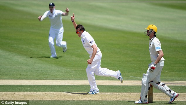 Success: Graeme Swann picked up four wickets in the sweltering Australian heat