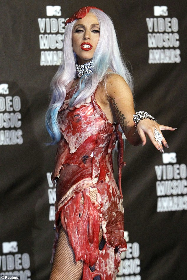 Remember this? Lady Gaga's multicoloured outfit doesn't seem too strange with you take a look at what she wore to the 2010 MTV Video Music Awards in Los Angeles