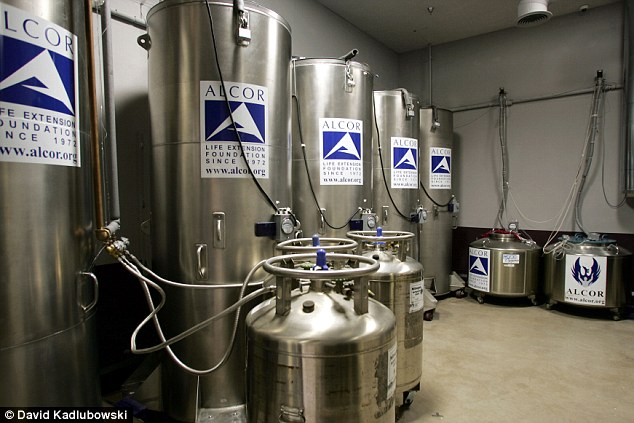 Preserved: Alcor has been cryogenically freezing 'patients' since 1976, putting their bodies and heads in Thermos-like steel tubes
