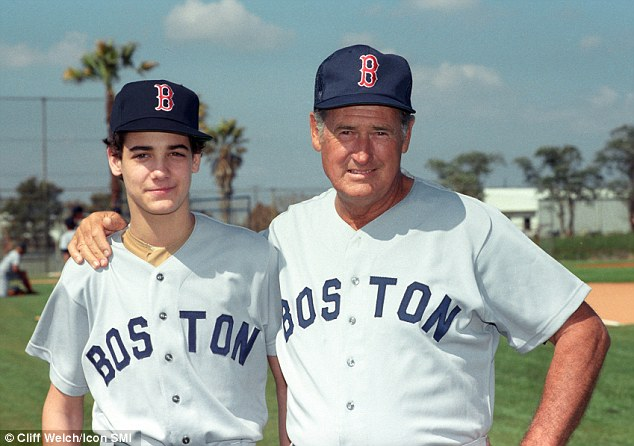 Together forever: A new book reveals how Red Sox legend Ted Williams' (right) son John-Henry (left) went against his will and had him cryogenically frozen. When John-Henry died two years later, he had the same procedure