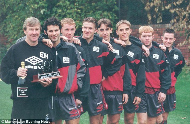 Success story: The Class of '92 tells the tale of the meteoric rise to fame of Manchester United youth team players, Ryan Giggs, Nicky Butt, David Beckham, Gary Neville, Phil Neville and Paul Scholes