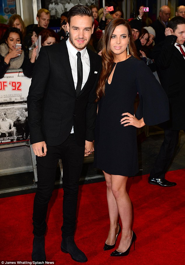 Stylish two: Liam Payne brought his girlfriend Sophia Smith to the premiere in central London