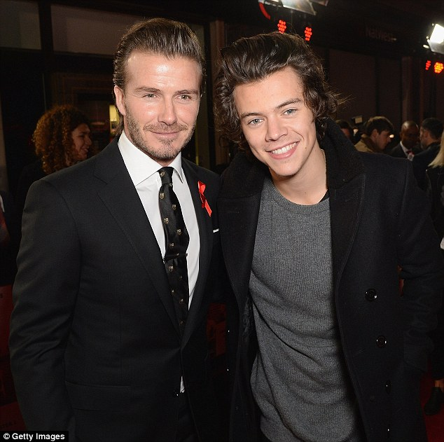 Friends forever: David Beckham found time to hang out with One Direction star Harry Styles