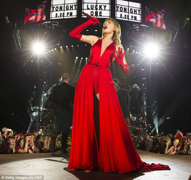 Hottest ticket: Taylor's Red concert shows are selling out like hotcakes; she is seen performing at her May 26 show in Arlington, Texas