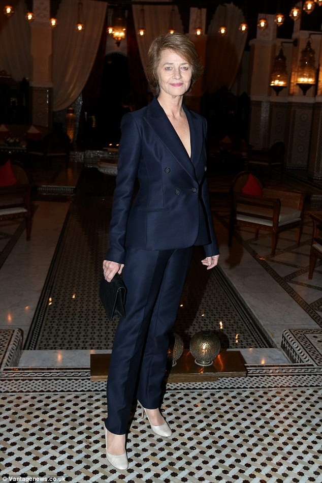 Designer life: Actress Charlotte Rampling is said to be a huge fan of the Dior label
