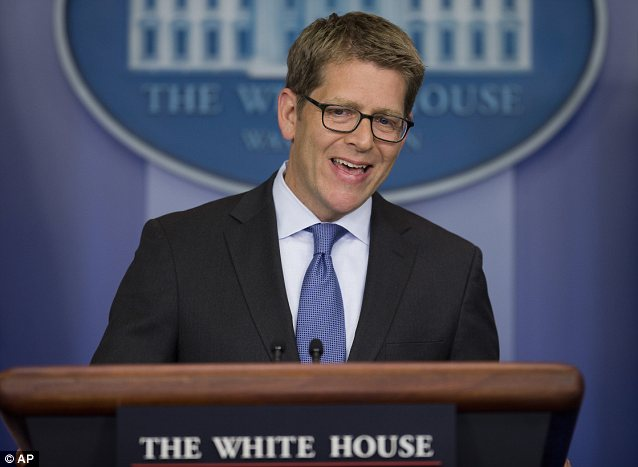 White House press secretary Jay Carney insisted that the 'queueing feature' -- a sort of overdraft protection for website registrations -- was a helpful new feature, but it crashed whiel he was praising its virtues