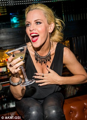 High spirits: Comedienne Jenny was clearly delighted with her reception after hosting the two Vegas shows on Friday and Saturday evening