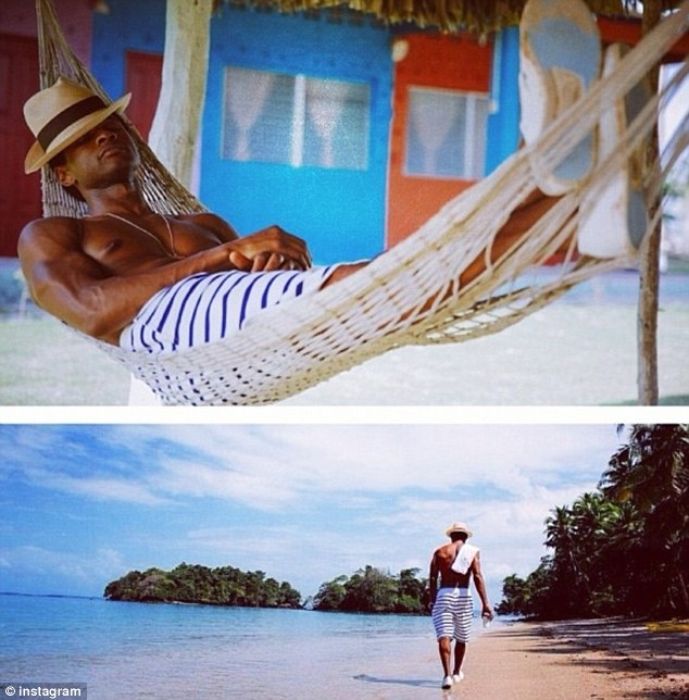 Panama hat: Usher posted these photos to his Instagram Saturday