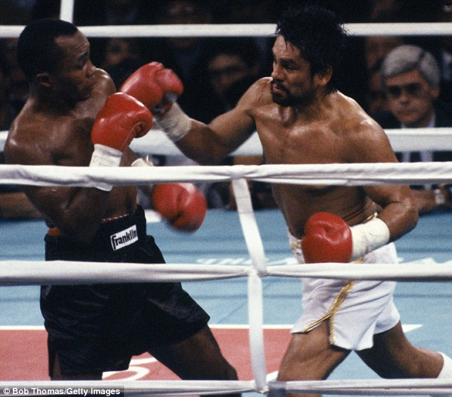 Rivalry: Roberto Duran and Sugar Ray Leonard fought three times with the first rubber being the most memorable